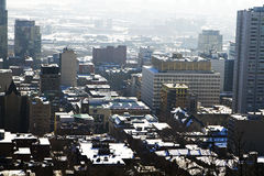 Montreal in winter Stock Photography