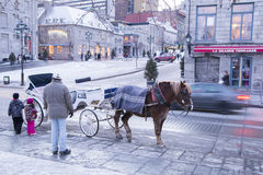 Montreal in winter Stock Image