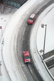 Montreal winter road Stock Images