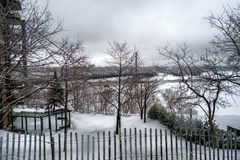 Montreal Winter  scene Royalty Free Stock Images