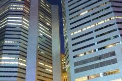 Montreal-Wolkenkratzer nachts Stockbild