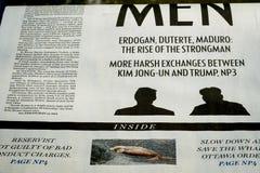Montreal-Zeitungs-Abschnitt über Nordkorea Lizenzfreies Stockbild