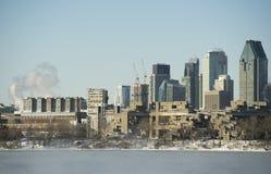 Montreal zima obraz royalty free