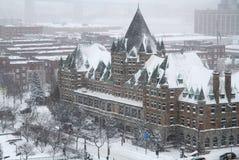 Montreal zima Zdjęcia Royalty Free