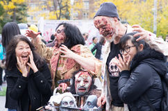 Montreal Zombie Walk, 2014 edition Stock Photos