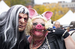 Montreal Zombie Walk, 2014 edition Stock Image