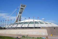 Montrealen Olympic Stadium och torn Royaltyfria Foton