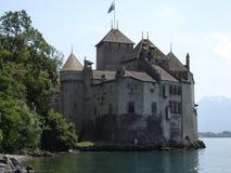 montreau zamek chillon Szwajcarii Obraz Stock