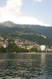 Montreaux dal lago Lemano di estate immagini stock libere da diritti