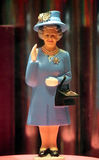 Montrer la reine du doigt Photo stock