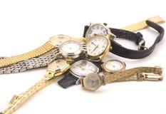 Montres-bracelet multiples Photographie stock libre de droits