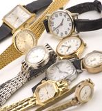 Montres-bracelet multiples Photo stock