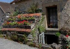 Montresor, Blumenanzeige, die Loire, Frankreich Lizenzfreie Stockbilder
