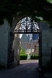 Montresor, Blumenanzeige, die Loire, Frankreich Lizenzfreie Stockfotos
