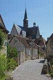 Montresor, Blumenanzeige, die Loire, Frankreich Stockbilder