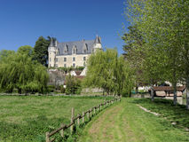 Montresor castle and village, Indrois valley, France Royalty Free Stock Photos