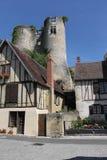 Montresor, Straßenbild, die Loire, Frankreich Stockbilder