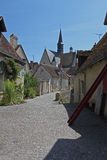 Montresor,Street scene, Loire, France Stock Photo
