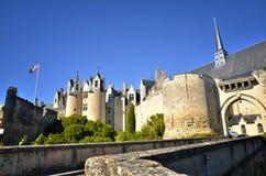 Montreuil-Bellay, destinazione turistica francese, dettaglio del castello medievale fotografie stock libere da diritti