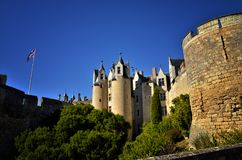 Montreuil-Bellay, French tourist destination, detail of the medieval castle Stock Photo
