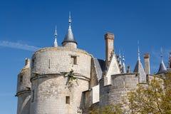 Montreuil-Bellay kasztel Zdjęcie Royalty Free