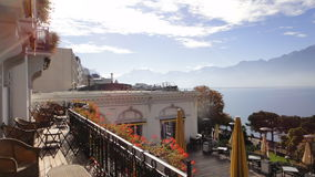 Montreux. View from Majestic Suisse Hotel in Montreux Royalty Free Stock Image