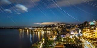 Montreux alla metà di notte Fotografia Stock Libera da Diritti