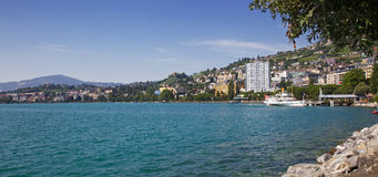 Montreux boat station Stock Photography