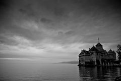 Montreux - Château De Chillon Lizenzfreies Stockbild