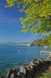 Montreux en Meer Genève Stock Afbeelding