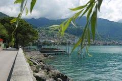 Montreux från Clarens royaltyfri fotografi