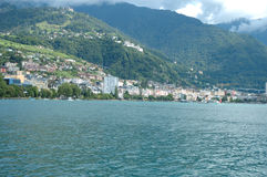 Montreux at Geneve lake in Switzerland Stock Image