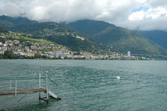 Montreux at Geneve lake in Switzerland Stock Photography