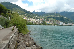 Montreux at Geneve lake in Switzerland Royalty Free Stock Photography