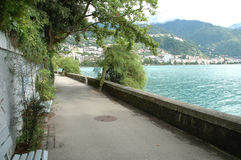 Montreux at Geneve lake in Switzerland Royalty Free Stock Image