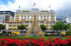 Free Montreux Grand Hotel Suisse Majestic Stock Photography - 19626742