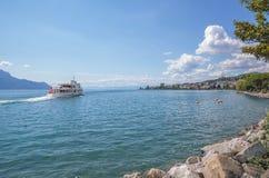 Montreux, Jeziorny Genewa, Szwajcaria Zdjęcie Royalty Free
