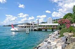Montreux, lago Genebra, Switzerland Imagens de Stock