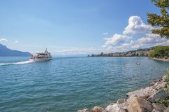Montreux,Lake Geneva,Switzerland Royalty Free Stock Photo