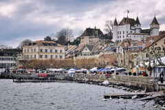 Montreux market Royalty Free Stock Image