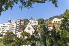 Montreux miasteczko Obraz Royalty Free