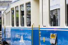 Montreux–Oberland Bernois (MOB) train Royalty Free Stock Photography