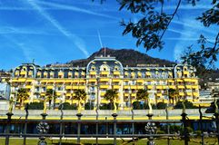 Montreux Palace stock image