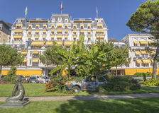 Montreux Palace Hotel royalty free stock photography