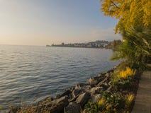 Montreux - Schweizer Riviera stockfotos
