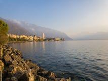Montreux - Schweizer Riviera lizenzfreies stockbild