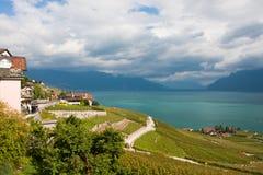 Montreux sul lago Ginevra Fotografia Stock Libera da Diritti