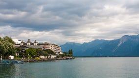 Montreux sul lago Ginevra Immagine Stock Libera da Diritti