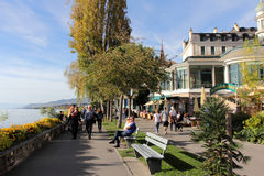 Montreux Swiss Riviera Stock Images