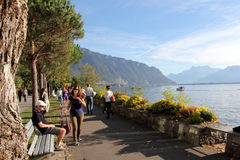 Montreux Swiss Riviera Royalty Free Stock Photos